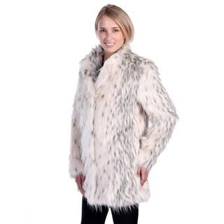 Nuage Women's Lynx Faux Fur Coat