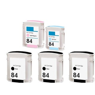 5PK C5016AN - C5018AN (HP 84) LM LC 3BK Compatible Ink Cartridge For HP 10PS 20PS 50PS (Pack of 5)