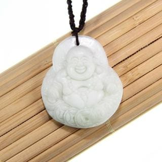 Handmade Maitreya Happy Buddha Jade Necklace (China)