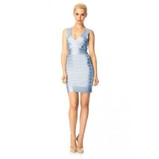 French Connection Heather Blue Spotlight Sleeveless Stretch Bodycon Dress