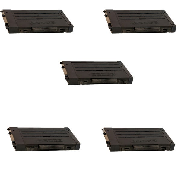 5PK Compatible CLP-500D7K Black Toner Cartridge For Samsung CLP-500 (Pack of 5)