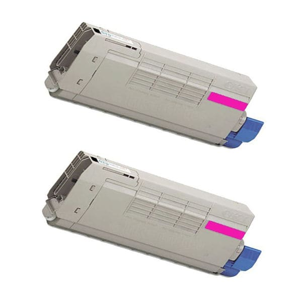 2PK Compatible 43381910 Magenta Toner Cartridge For OKI C5600 / C5700 (Pack of 2)