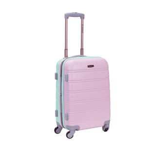 Rockland Two-Tone 20-inch Expandable Hardside Carry On Spinner Upright Suitcase