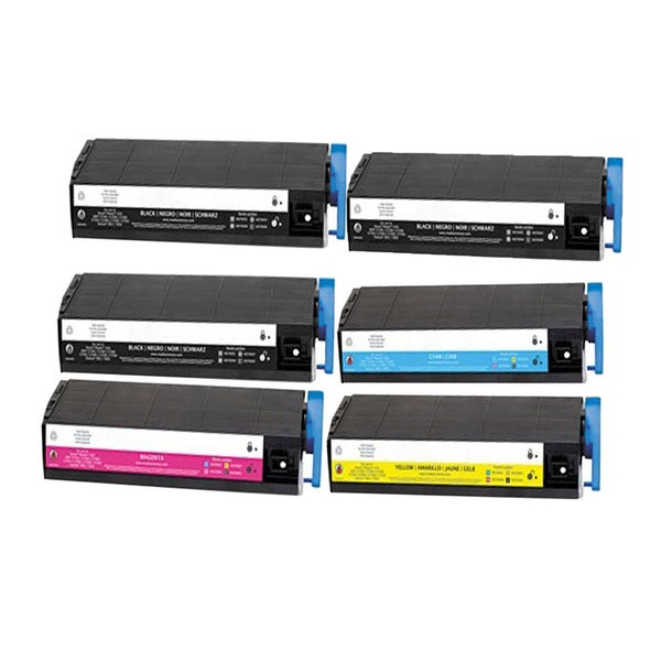 6PK Compatible 3 x 41963004 + 41963003 41963002 41963001 Toner Cartridge For OKI C7100 (Pack of 6)