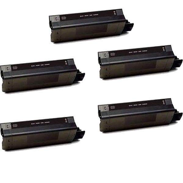 5PK Compatible 42487736 Black Toner Cartridge For OKI C8600 8800 (Pack of 5)