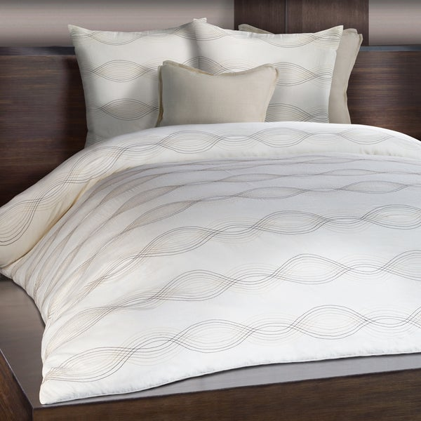 Linea Ivory Embroidered Duvet Cover
