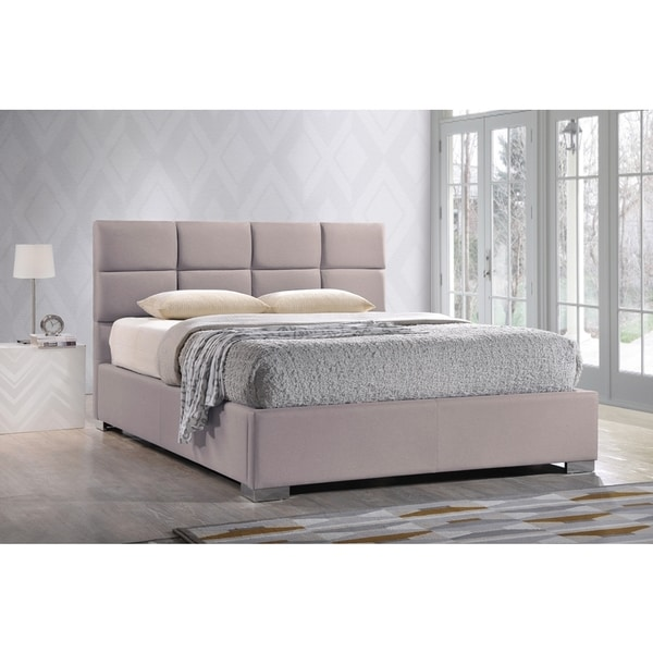 Sophie Modern and Contemporary Beige Fabric Upholstered Platform Bed