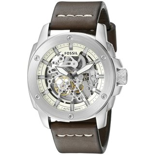 Fossil Men's ME3083 'Modern Machine' Automatic Brown Leather Watch