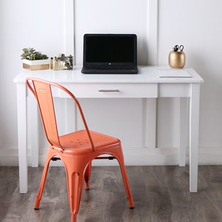 48-inch White Wood Writing Desk