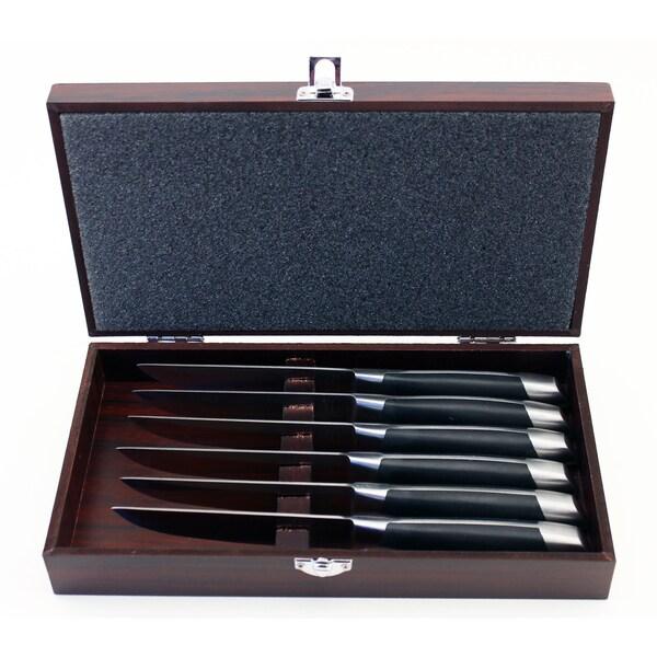 Geminis 6-piece Steak Set with Wooden Case