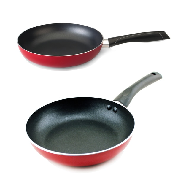 Geminis 2-piece Fry Pan Set Red