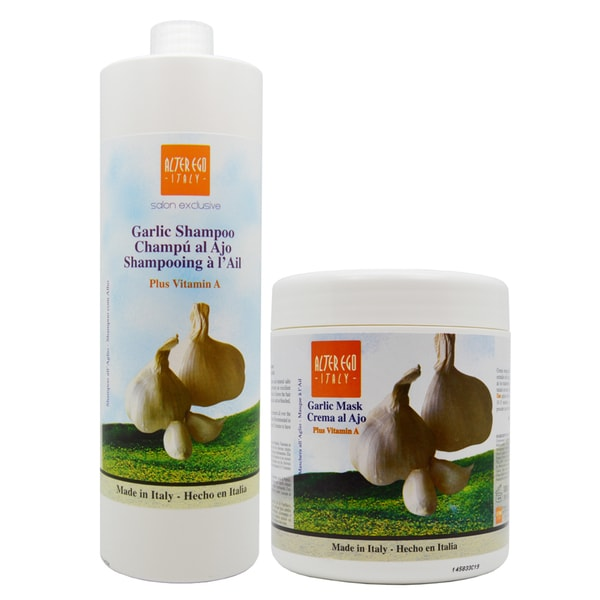 Alter Ego 33.8-ounce Garlic Shampoo and Garlic Vitamin A Mask