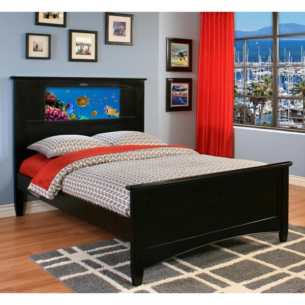 Lifetime LightHeaded Beds Black Canterbury Full Bed