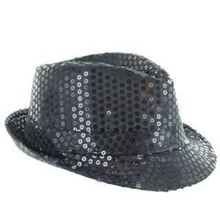 Faddism Children's Fashion Sequin Fedora Hat