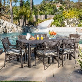 Christopher Knight Home Oakridge Outdoor 7-piece Wicker Dining Set with Cushions