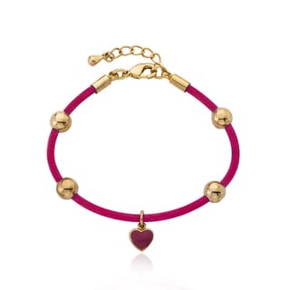 LIttle Miss Twin Stars 14k Goldplated Rubber Charm Bangle