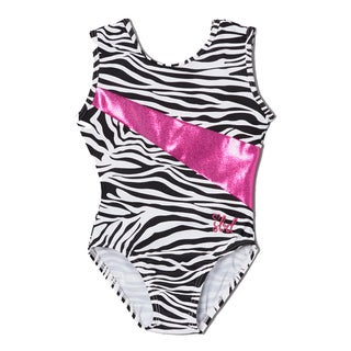 Girls' Zebra Print Pink Stripe Alexis Leotard