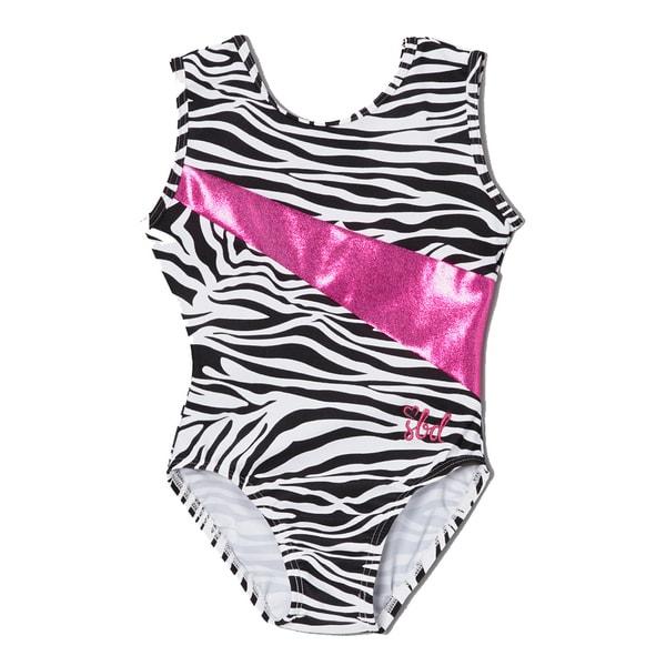 Girls' Zebra Print Pink Stripe Alexis Leotard