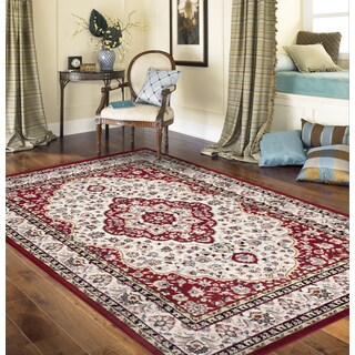 Traditional Oriental Persian Style Red 7 ft. 10 in. x 10 ft. 2 in. Indoor Area Rug