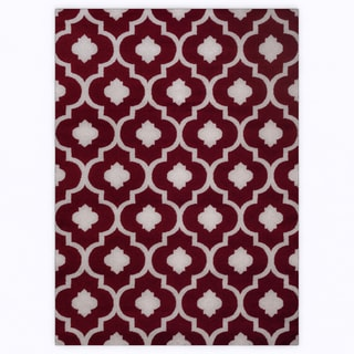 Moroccan Trellis Contemporary Red Indoor Area Rug (5'3 x 7'3)