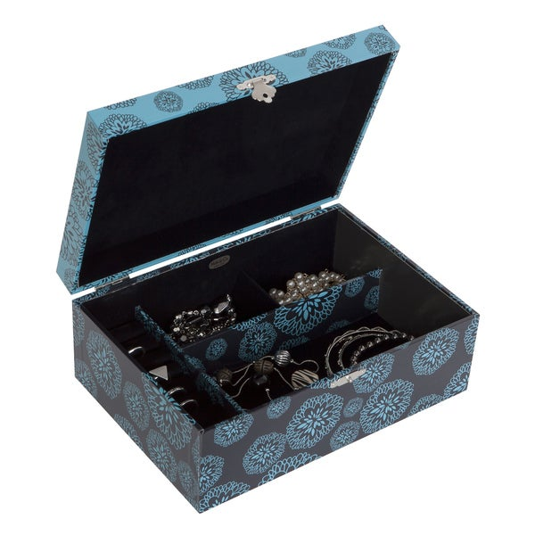 Mele and Co Laila Floral Print Fashion Jewelry Box
