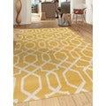 Contemporary Trellis Design Yellow 7 ft. 10 in. x 10 ft. 2 in. Indoor Area Rug