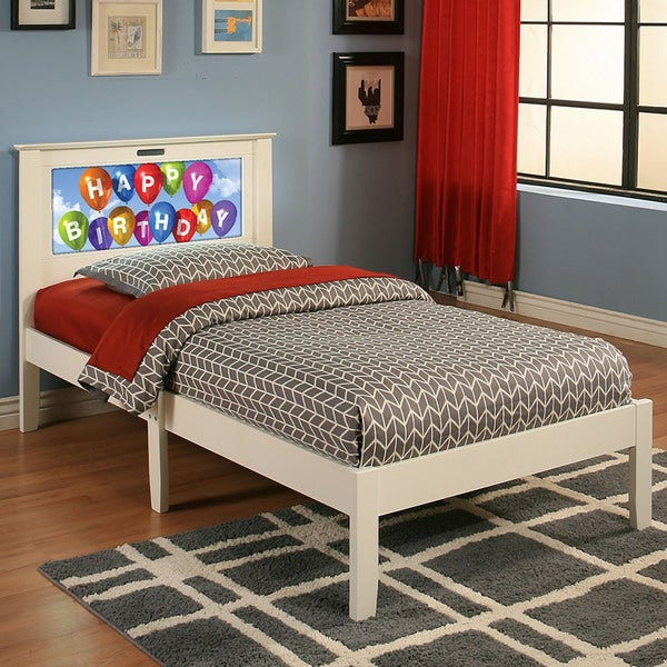 Lifetime LightHeaded Beds Montgomery White Twin Bed
