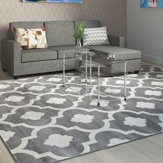 Moroccan Trellis Contemporary Gray 7 ft. 10 in. x 10 ft. 2 in. Indoor Area Rug