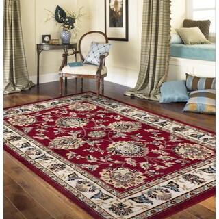 Traditional Oriental Design Red 3 ft. 3 in. x 5 ft. Indoor Area Rug