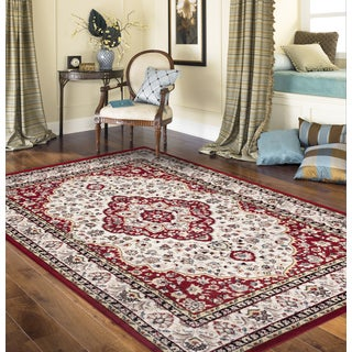 Traditional Oriental Persian Style Red 3 ft. 3 in. x 5 ft. Indoor Area Rug