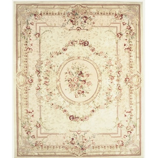 Chinese Florence Hand-tufted Wool and Silk Oversized Rug (9'6 x 13'6)