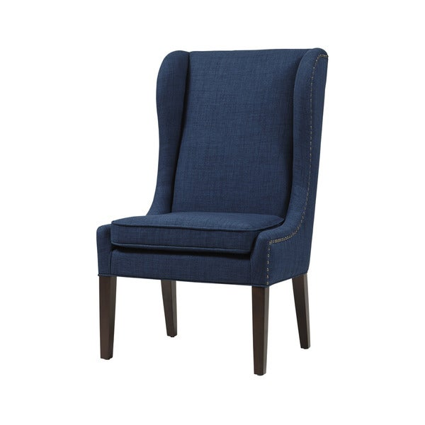 Madison Park Sydney Traditional Wing Dining Chair--Navy ...