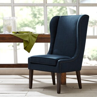 Madison Park Sydney Traditional Wing Dining Chair--Navy