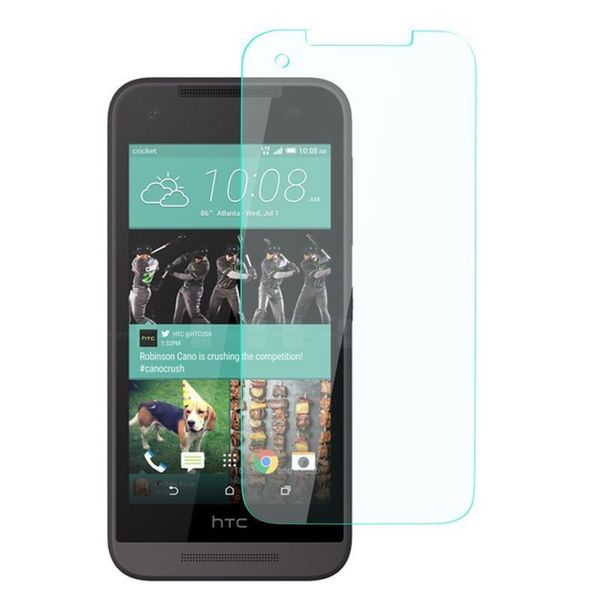 Insten Clear Tempered Glass Screen Protector for HTC Desire 520 Smartphone