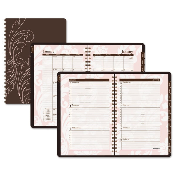 AT-A-GLANCE Sorbet Brown/Pink Monthly Planner 2016