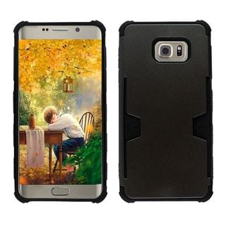 Insten Hard Snap-on Dual Layer Hybrid Phone Case Cover with Card For Samsung Galaxy S6 Edge Plus