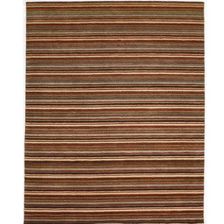 Indo Wool Hand-tufted Striped Rug (8' x 10')