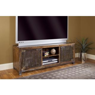 Rustic Mangowood/ Iron 59-inch Media Console