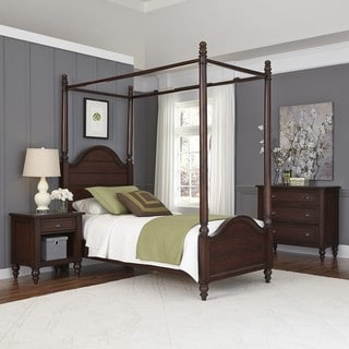 Home Styles Country Comfort Canopy Bed, Night Stand, and Chest