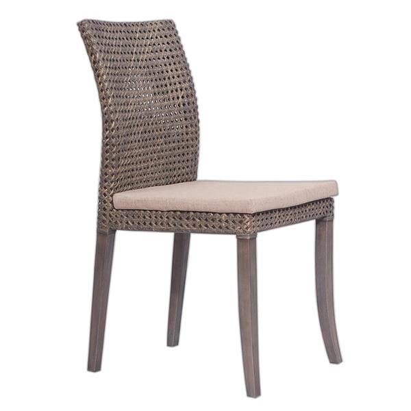 Peoria Transitional Grey Textured Chair
