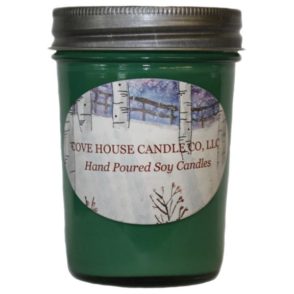 Scented Green 8-ounce Jelly Jar Candle