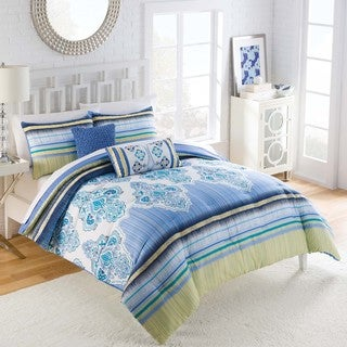 Vue Fantasia Cotton Medallion 5-piece Comforter Set