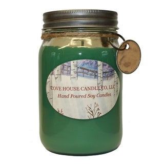 Scented Green 16-ounce Canning Jar Candle