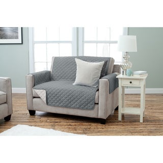 Home Fashion Designs Kaylee Collection Quilted Reversible Love Seat Protector