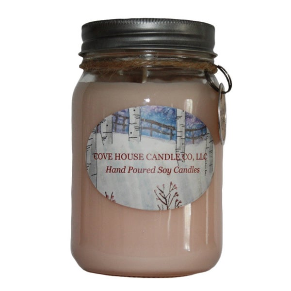 Scented Pink 16-ounce Canning Jar Candle