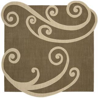 Nourison Silhouette Chocolate Rug (7'9 x 7'9)