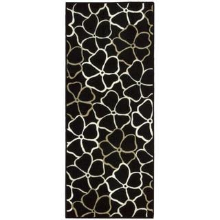 Nourison Accent Decor Black & White Accent Rug (1'10 x 4'6)