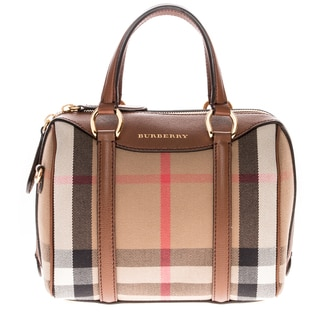 Burberry Small Alchester in House Check and Leather