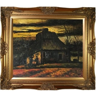 Vincent Van Gogh 'The Cottage', 1885 Hand Painted Framed Canvas Art