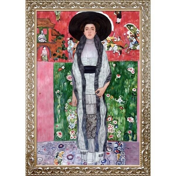 Gustav Klimt 'Portrait of Adele Bloch-Bauer II' Hand Painted Framed Canvas Art